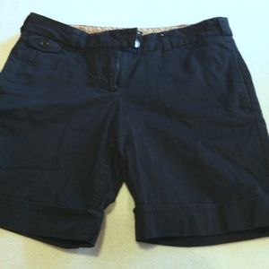 DALIA COLLECTION MODERN FIT BLACK COTTON SHORTS 6